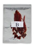 Sachet sous vide de l'échantillon du jambon B