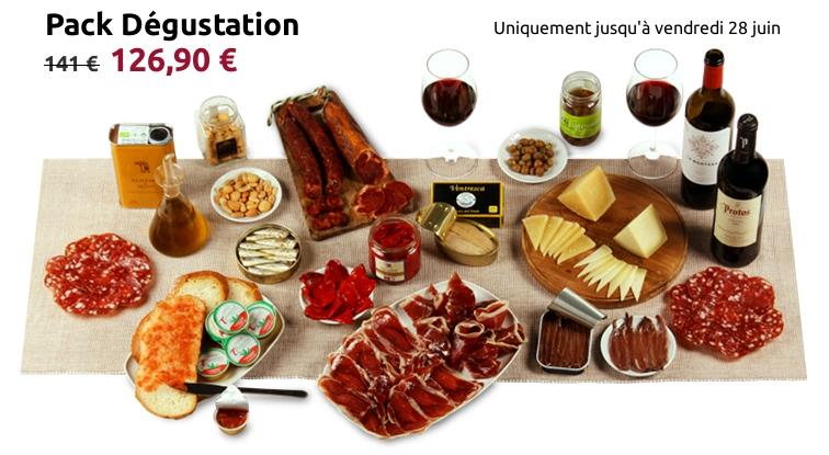 Pack dégustation de produits espagnols pour 5-6 personnes