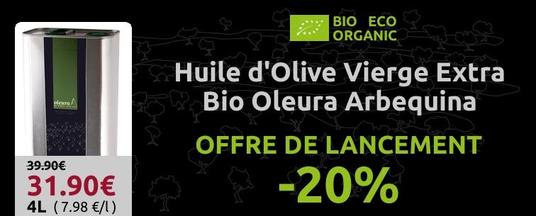 REMISE 20% Huile d'Olive vierge extra bio Oleura