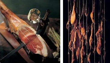 Jambon serrano et cave de jambons serranos