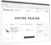 Page web de votre panier à IberGour